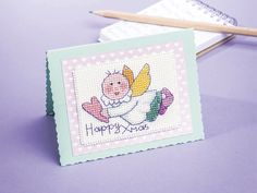 Angel card | Free Chart | Cross Stitching