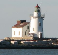 Cleveland West Breakwater light as seen from Whiskey Island in Lake Erie Cleveland Rocks, Cleveland Ohio, Restaurant History, Lighthouse Lighting, Forest City, County Seat, Great Vacations, Lake Erie, Best Location
