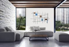 Gridded by Karo Martirosyan (Art Glass Wall Sculpture) | Artful Home