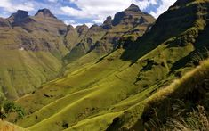 My EPIC day in the Drakensberg, the highest mountain range in southern Africa, involved two of my favorite things: monkeys and mountains! It started with a hike to Orange Peel Gap, in the shadow of Cathedral Peak. Overseas Adventure Travel, Adventure Tours, Adventure Awaits, Natural Wonders, Hiking Trails, Vacation Spots, The Great Outdoors, Places To See, South Africa