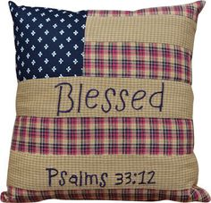 "This Americana pillow is approximately 10"" x10""."