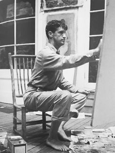 Fairfield Porter — Studio photograph