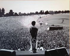 Acrylic on canvas, 100 x of oasis live at knebworth. this took forever to do but it was worth it. Oasis Live, Oasis Band, Noel Gallagher, British Rock, Band Tattoo, Sleeve Tattoos, Leg Tattoos, Rock Music, Rock N Roll