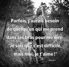 French Words, French Quotes, Words Quotes, Qoutes, Love Quotes, All I Want, Feel Good, Affirmations, Texts