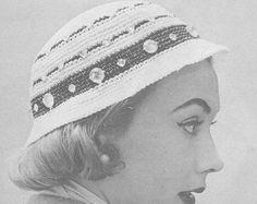 1955 Classic Cloche Hat Vintage Crochet Pattern PDF by annalaia