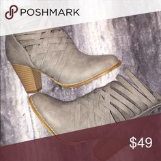 """The Baltimore Bootie💕 Gray in color! 3"""" heel Shoes Ankle Boots & Booties"""