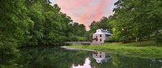 The Inn at Evins Mill is a fabulous bed and breakfast with absolutely amazing food.  This is the grist mill that is on the property that has been renovated to include a game room.  There are acres and acres of grounds to hike.