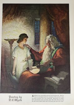 Eli and Samuel, Vintage 1920s Good Housekeeping Magazine Illustration Bible Story Painting, Religious Biblical History. $8.00, via Etsy.