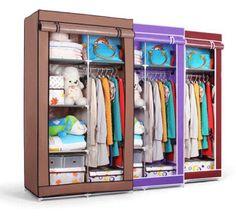 ! New Folding Portable Clothes Wardrobe Closet Storage Cabinet Rack Hot Furniture from Bestangel,$73.29   DHgate.com