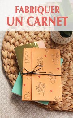 DIY :: FABRIQUER UN CARNET SOI-MÊME - Aux petites merveilles Cute Crafts, Diy And Crafts, Diy Cadeau Noel, Ideas 2017, Papier Diy, Diy Notebook, Book Making, Bookbinding, Diy Projects To Try