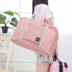Cheap Gym Bags, Buy Directly from China Suppliers:Female Travel Gym Bag Folding Portable Duffel Storage Women Fitness Shoulder Bag Yoga Mat Waterproof Handbag Travel Sport Bags Bag Women, Travel Bags For Women, Outdoor Training, Sac Week End, Travel Handbags, Large Handbags, Travel Tote, Travel Luggage, Large Bags