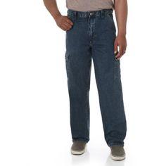 Wrangler - Men's Cargo Jeans, Size: 32 x 30, Gray