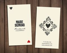 Premade business card template / retro printable card /  by sthnew, $25.00