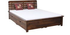 Buy Alexander Storage Queen Size Bed with Drawer storage in Provincial Teak Finish by Woodsworth by Woodsworth online from Pepperfry. ✓Exclusive Offers ✓Free Shipping ✓EMI Available
