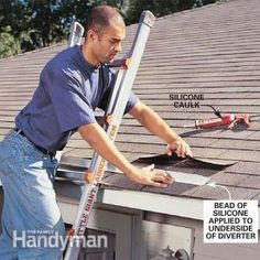 Without gutters, rain and snow melt can flood steps, entryways and sidewalks. A rain diverter solves the problem without the expense of installing gutters by simply channeling water away.