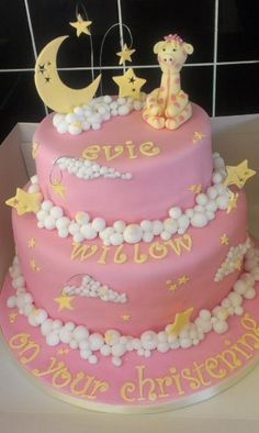stars, clouds and moons cake