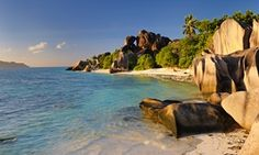 Source d'Argent beach, La Digue, Seychelles.