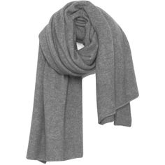 American Vintage Wixtonchurch Scarf - Grey Melange ($105) ❤ liked on Polyvore featuring accessories, scarves, grey melange, oversized scarves, grey shawl, gray shawl, grey scarves and american vintage