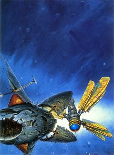 """brighter-suns: """"Cover art for Frederik Pohl's Heechee Rendevous by Darrel Sweet."""""""