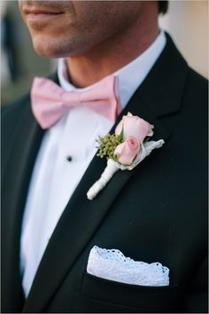 pink and black groomsman ideas #gardenwedding #weddingchicks http://www.weddingchicks.com/2014/01/16/dynamite-and-pearls-wedding/