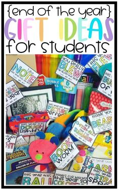 End of the Year gift tags for students from teachers for easy end of the year gift ideas for your students!