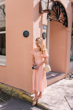 Colleen - The most darling cold should dress in peach - Gal Meets Glam Collection