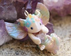Baby glow in the dark cloud dragons on Etsy!
