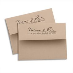 """Custom printed back flap return address envelopes Small invitation and note card envelope. 5 ¾"""" W x 4 3/8"""" H. Elegant square flap and secure gum seal. Laser and inkjet compatible. Fits 5 3/5"""" x 4 1/4"""""""
