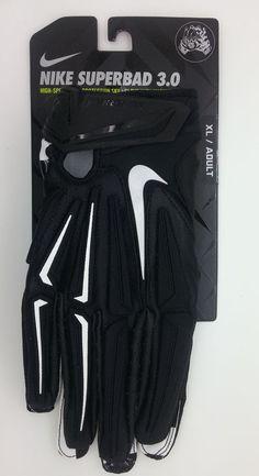 NIKE SUPERBAD 3.0 MAGNIGRIP SKULL LOGO FOOTBALL GLOVES PAIR (ADULT XL) -- NEW #Nike