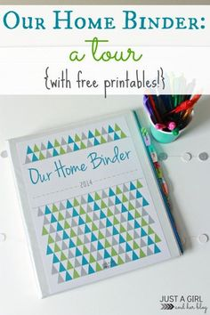 Get your home organized more easily with these awesome printables! | JustAGirlAndHerBlog.com