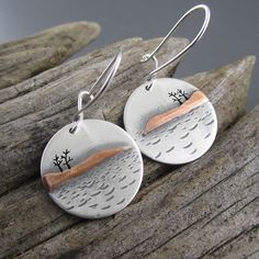 Little Presque Isle Autumn Mixed Metal Earrings
