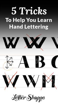 Hand lettering for beginners.