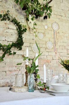 Wesele w lato, czyli luz w gaciach i radość trwania - Wreaths, Table Decorations, Home Decor, Projects, Decoration Home, Door Wreaths, Room Decor, Deco Mesh Wreaths, Home Interior Design