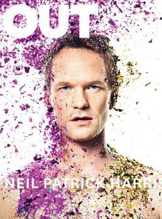 Neil Patrick Harris posa para ensaio lindo e colorido da Out Magazine