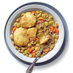 Three-Bean Cassoulet with Cornmeal Dumplings - January 2016 Recipes