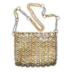 Paco Rabanne for Walborg Gold/Silver Metal Shoulder Bag image 2
