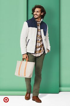 Goodfellow & Co staples and a sleek Hearth & Hand bag make great gifts for your trendy guy.