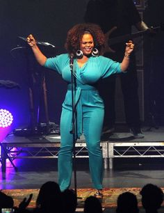 Rock The Mic Jill Scott performs live for fans at Palais Theatre in Melbourne, Australia.
