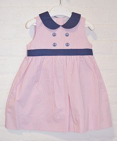 Another great find on #zulily! Pink Seersucker Collar Dress - Infant by Boutique Collection by Imagewear #zulilyfinds