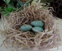 bird theme...eggs with baking soda clay
