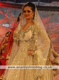More of a performance dress than anything, but it's gorgeous. Pakistani Bridal, Pakistani Dresses, Indian Bridal, Indian Dresses, Indian Outfits, India Fashion, Ethnic Fashion, Women's Fashion, Types Of Wedding Gowns