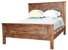 Jaipur Furniture Guru Queen Shutter Bed - Great American Home Store - Headboard & Footboard Memphis, TN, Southaven, MS #ReclaimedWood #ShopGAHS