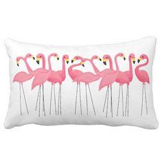 Cuban Pink Flamingos Throw Pillow