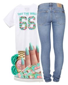 by jadeessxo on Polyvore featuring Vans, Nudie Jeans Co., Michael Kors and Bling Jewelry