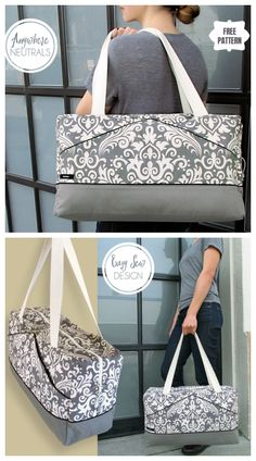 The Perfect Damask Duffle Bag Free Sewing Pattern Duffle Bag Patterns, Bag Patterns To Sew, Sewing Patterns Free, Free Sewing, Sewing Case, Sewing Diy, Diy Duffle Bag, Leather Duffle Bag, Bag Pattern Free