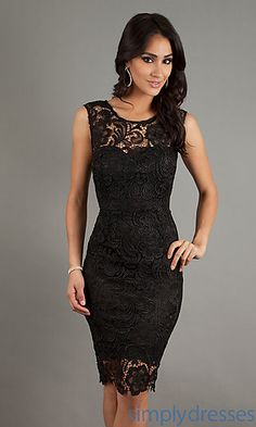 Sleeveless Lace Cocktail Dress Party