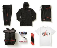 """Air Jordan 6 """"Infrared"""" Attire http://www.equniu.com/2014/02/10/air-jordan-6-infrared-attire/"""