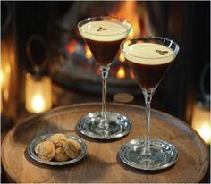 Espresso Martini Cocktail Recipe (1 1/2 oz) vodka (3/4 oz) Kahlua coffee liqueur (1/4 oz) white creme de cacao (1 oz) cold espresso (1 glass) crushed ice Brown cocoa for topping – optional