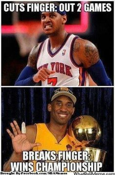 The Black Mamba vs. Melo! Credit: Travis Kirkman  http://whatdoumeme.com/meme/qj…
