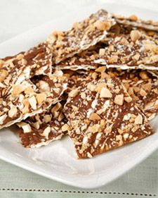Chocolate covered toffee matzah for passover #passover #recipe #matzah
